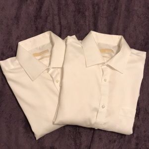 Bundle 2 Michael Kors men's non-iron dress shirts